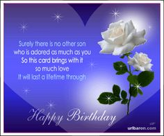 Son I Love You So Very Much And Hope Have A Great Birthday