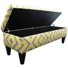 Add a pop of pattern to your home decor with this stylish storage bench.   Product: Storage benchConstruction Material: