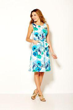 Sara Campbell printed cotton pinafore dress with sash Boston Shopping, Pinafore Dress, Summer 2015, Sash, Printed Cotton, Prints, Clothes, Collection, Dresses