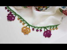Gül Bahçesi Tığ Oyası Yapımı - YouTube Embroidered Clothes, Felt Crafts, Designer Dresses, Crochet Necklace, Crochet Patterns, Make It Yourself, Jewelry, Fashion, Leather Handbags