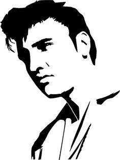 Elvis the King, Mylar Stencil Art Craft Home Decor Painting Wall micron Disney Silhouette Art, Shark Silhouette, Stencil Painting, Pond Painting, Thread Painting, Stencil Designs, Vinyl Designs, Shirt Designs, Realism Tattoo