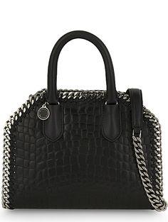 5cf948cb49 STELLA MCCARTNEY Falabella mini crocodile-embossed shoulder bag