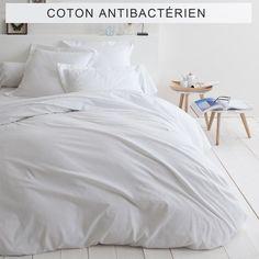 Housse de couette unie coton traité antibactérien Sanitized® - 3Suisses