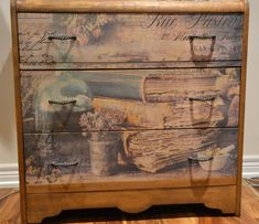 A tired and dated waterfall dresser gets a lovely new look with Prima Re-Design Precious Collection transfer. Gold Christmas, Christmas Baubles, Waterfall Dresser, Minwax, You Are Awesome, Tissue Paper, Diy Furniture, Tired, Decoupage