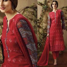 BACK IN STOCK FOR OUR CUSTOMERS Classy georgette suits with lucknowi chikan style embroidery and printed sleeves santoon bottom and chiffon dupatta.  Semi stiched Price range: 2300/- inr/ 25/37$ We take stiching orders also.  Shipping worldwide. Free Delivery all over India. COD available all over India.  For enquiries pls contact 919769716775.  #indianclothes #ethnicwear #salwarkameez #sarees #anarkalis #tunics #kurtis #indianfashion #indianwear #fashion #desistyle #salwarsuit #patialasuit…