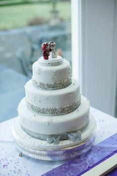 Snowflake wedding cake by Corr's Cakes