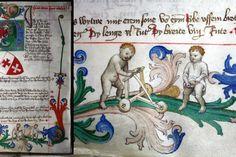 Камиза на ребенке, книга про сельхозработы, Эльбинг, Пруссия, 1421 год.