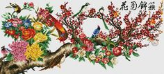 Providing good and quality counted cross stitch patterns and charts with nice design. Get free embroidery stitch patterns and charts every day. Cross Stitch Bird, Counted Cross Stitch Patterns, Cross Stitch Embroidery, Bargello, Bird Art, Needlepoint, Needlework, Floral Wreath, Photo Wall