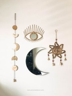 Wonderful Room Inspo❤️ OM Wall Hanging, Moon Phase Decor, All Seeing Eye | Save 25% off all orders with code PINTERESTXO at checkout | Boho Bedroom Moon Phase Bohemian Zodiac T ..