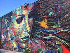 Awesome street art, urban art & world graffiti art from some amazing urban artists Graffiti Artwork, Street Art Graffiti, Mural Art, Wall Mural, David Walker, Walker Art, Amazing Street Art, Amazing Art, Kobra Street Art