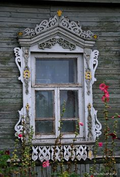 village Volkovo, russia Wooden Window Frames, Wooden Windows, Arched Windows, Old Windows, Windows And Doors, Wooden Architecture, Russian Architecture, Architecture Details, Window Molding Trim