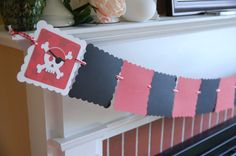 Pirate 12 Month Photo Banner, Pirate Birthday, Pirate Theme, Pirtate Party. $22.00, via Etsy.