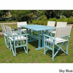 International Caravan Messina Acacia Hardwood Outdoor 7-piece Dining Set - Overstock™ Shopping - Big Discounts on International Caravan Dining Sets