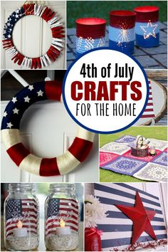 Check out these Fourth of July Crafts. You can make any celebration patriotic wi… Check out these Fourth of July Crafts. You can make any celebration patriotic with these of July Crafts for your home. Fourth Of July Crafts For Kids, Fourth Of July Food, 4th Of July Fireworks, 4th Of July Party, Crafts For Girls, July 4th, Crafts To Make, Diy Crafts, Creative Crafts