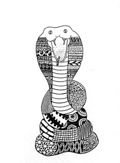 Snake - Zentangle by samhkin on DeviantArt