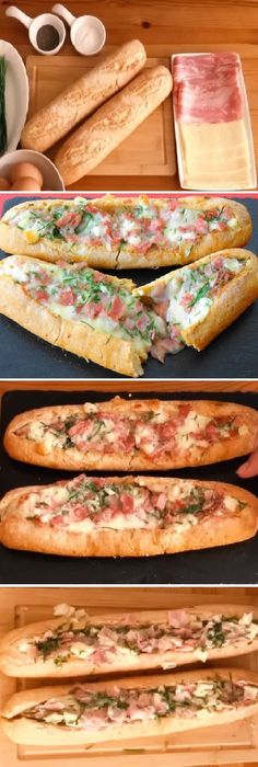 Ideas for pasta faciles y rapidas Snacks, Snack Recipes, Cooking Recipes, I Love Food, Good Food, Yummy Food, Baguette Relleno, Deli Food, Finger Foods