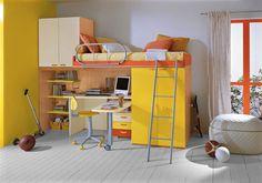 cama de dos pisos con escritorio - Google Search