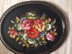 Exclusive-Large-Zhostovo-Russian-Handpainted-Tole-Tray