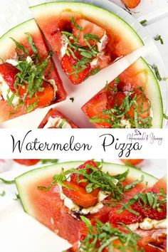 Watermelon pizza is fun to make and fun to eat. A healthy fruit pizza perfect for bbq parties. #homemandeandyummy #watermelonpizza #fruitpizza #fruitdesserts | homemadeandyummy.com