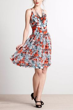 NWOT ANTHROPOLOGIE TABITHA FLORAL SILK DRESS by TIMO 2 #Anthropologie #Cocktail