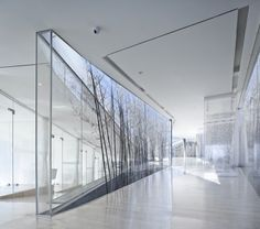 Light boxes.  Riverside Clubhouse, Jiangsu, China. Trace Architecture Office.