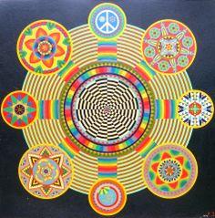 ➳➳➳☮ American Hippie Psychedelic Art ~ Mandala ..