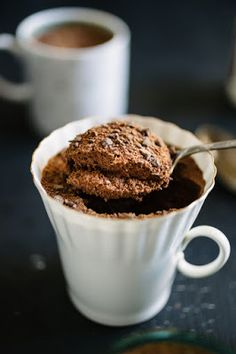 Low Carb High Protein Chocolate Mug Cake + Calorie Breakdown -