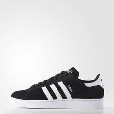 huge selection of fb6da f97a0 Adidas Campus Shoes, Adidas Shoes, Striped Shoes, Blue Suede Shoes, Black  Shoes