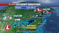 Winter weather continues for Midwest Northeast as West Coast braces for mudslides -  Winter weather is expected to continue this weekend for much of the Midwest and Northeast as severe storms threaten the Southeast.  Interested in Weather?  Add Weather as an interest to stay up to date on the latest Weather news video and analysis from ABC News.  Add Interest  A storm is bringing snow this morning to the eastern Great Lakes and Northeast including major cities such as Detroit Philadelphia…