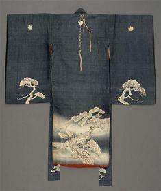 Kimono de cérémonie pour jeune garçon (iwaaigi) 19e siècle, époque Edo (1603-1868), époque Meiji (1868-1912) Soie, textile Japon, Kyôto, provenance incertaine (C) RMN-Grand Palais (musée Guimet, Paris) / Jean-Gilles Berizzi