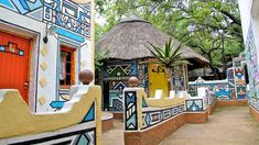ndebele houses - Google Search Environmental Art, Gazebo, Africa, Outdoor Structures, Outdoor Decor, Image, Houses, Home Decor, Google Search