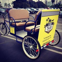 2 x 2 persoons yellow pedicab