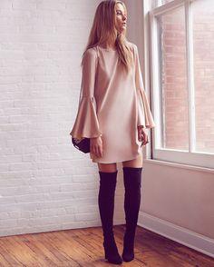 Elizabeth and James Mabel Bell Sleeve Dress | Shop IntermixOnline.com