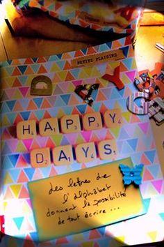 19ème jour : Lettres de l'alphabet.... Eh oui avec les lettres on peut tout écrire....