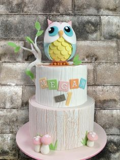 Owl Cake - Cake by Cakes By Leesin