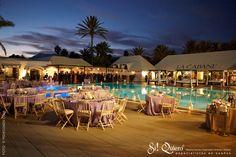 mantelería boda junto al mar radiant orchid pantone Marbella