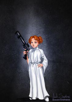 Wendy as Princess Leia.   9 Disney Non-Princesses Dressed As Pop Culture Icons