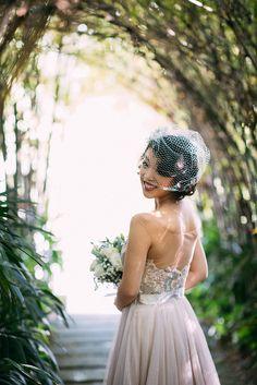 karen + paul | Lucca Wedding Dress by Watters for @BHLDN | via: the wedding scoop | #BHLDNbride