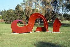 Arts and Venue Denver | Public Art | Denver Public Art Collection | Jazz  Barbara Baer  Painted Steel  Burns Park