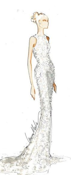 FASHION SKETCH, WEDDING DRESS ♡ http://fashioonmakeup.blogspot.com ♡