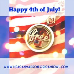 4th of July themed Origami Owl Living Locket. Designed by Meagan Mapson, Independent Designer 12134235. www.meaganmapson.origamiowl.com