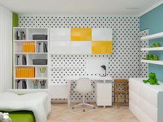 pokój dziecka - Średni pokój dziecka dla chłopca dla dziewczynki dla ucznia dla nastolatka, styl nowoczesny - zdjęcie od Icona Studio