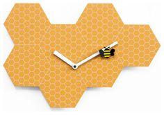 Time2Bee 2260 Orange Wall Clock