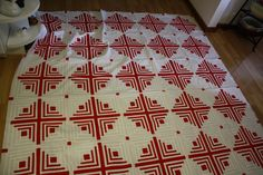 Red and White Quilt, I designed this quilt.... and it won a Blue ribbon at the WA state Fair for traditional Quilt.