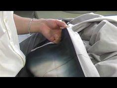 和裁、着物の縫い方、裾の褄あげ1 - YouTube
