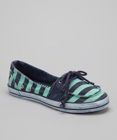 fdbbb55ece74 Take a look at this Julep Stripe Mandarin Boat Shoe on zulily today! Shoe  Nails