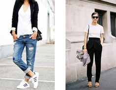"""You have a white t-shirt (or a billion) in your closet. Here are 4 outfit formulas to help your white t-shirt outfits go from """"meh"""" to insanely cool."""