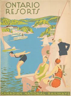 Canadian National Railways - vintage travel poster