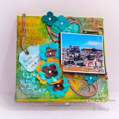 Canvas Mixed Media - Porto Invicta Made special for Canvas Corp, using Tattered Angels Mists.