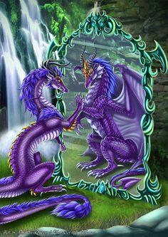 Dragoness Reflection ~ by Drakaina Queen on deviantART